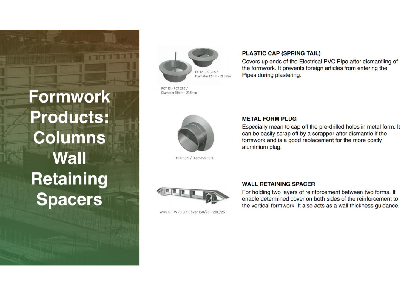 Metal Form Plugs/Wall spacers